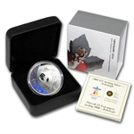 2008 Silver Canadian $25 Olympic Bobsleigh Hologram (Box & COA)