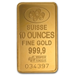 10 oz Gold Bar (Secondary Market) .999+ Fine
