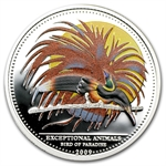 Palau 2009 Silver $5 Exceptional Animals - Bird of Paradise