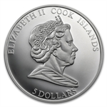 Cook Islands 2008 Proof Silver $5 Endangered Wildlife - Penguin