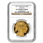 2012-W 1 oz Proof Gold Buffalo PF-70 NGC