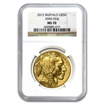 2012 1 oz Gold Buffalo MS-70 NGC