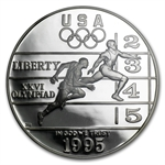 1995-P Olympic Track and Field $1 Silver Commem - PR-70 DCAM PCGS