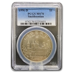 1996-D Smithsonian $1 Silver Commemorative - MS-70 PCGS