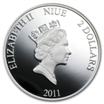 Niue 2011 Proof Silver $2 The Evangelists 4-Coin Set