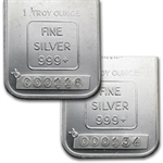 1 oz Engelhard Silver Bar (Tall, Maple / Smooth, Low Serial #)