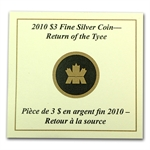2010 1/4 oz Silver Canadian $3 Return of the Tyee - Gilded