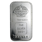 1 oz Engelhard Silver Bar (Tall, Maple / Smooth w/out Border)