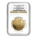 1987 1 oz Proof Gold Britannia PF-70 UCAM NGC - Registry Set