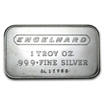 1 oz Engelhard Silver Bar (Wide, Logo / Logo, 5-digit)