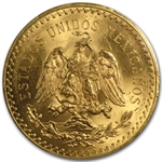 Mexico 1929 50 Peso Gold PCGS MS-63