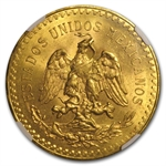 Mexico 1927 50 Pesos Gold Coin - MS-63 NGC