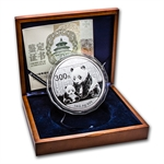 2012 1 Kilo Proof Silver Chinese Panda (w/box & CoA)