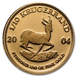 2004 1/10 oz Proof Gold South African Krugerrand