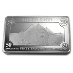 50 oz Lion Silver Bar .999 Fine