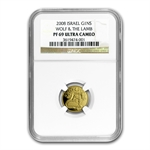 2008 Israel Wolf & the Lamb Smallest Gold Coin PF-69 UCAM NGC