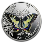 Niue 2011 Proof Silver $1 Butterflies - Old World Swallowtail