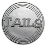 1/2 oz Silver Round Heads or Tails Novelty