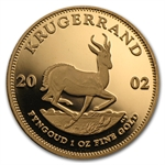 2002 1 oz Proof Gold South African Krugerrand Coin Only