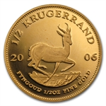 2006 1/2 oz Proof Gold South African Krugerrand