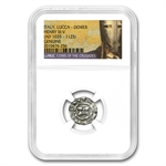 Coins of the Crusades Lucca Italy Silver Denier NGC Genuine