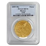 2009 1 oz Gold Mexican Libertad MS-70 PCGS - Registry Set
