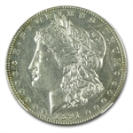 1891-CC Morgan Dollar Almost Uncirculated-58 NGC