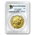 2006-2012 1 oz Gold Buffalo MS-70 PCGS Black Diamond 7-Coin Set