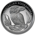 2012 1 oz Proof Silver Australian High Relief Kookaburra