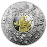 2011 5 oz Proof Silver Liberian Coin John The Apostle