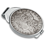 Sterling Silver Screw-Top Polished Coin Money Clip - 38.1mm