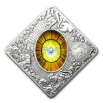 Palau 2011 Silver Proof $10 Holy Windows - St Peters Basilica