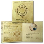British Virgin Islands 2012 $2 Proof Colored Bronze - RMS Titanic