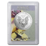 2013 1 oz Silver Eagle in Happy Mother's Day Design Harris Holder