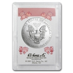 2013 1 oz Silver Eagle in Its a Girl! Design Harris Holder