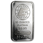 10 oz Engelhard Platinum Bar ('E' logo, Assay) .9995 Fine