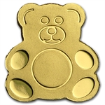 Palau Gold $1 Teddy Bear (1/2 gram of Pure Gold)