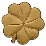 Palau Gold $1 Four-Leaf Clover (1/2 gram of Pure Gold)
