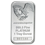 1 oz Engelhard Platinum Bar ('Eagle' logo, No Assay) .9995 Fine
