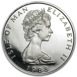 1983 1 oz Isle of Man Platinum Noble (Proof &/or Uncirculated)