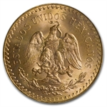 Mexico 1947 50 Peso Gold Coin - MS-64 PCGS