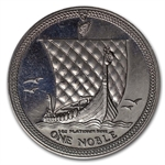 1 oz Isle of Man Platinum Noble (Abrasions)