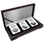 Israel Biblical Art Series 2 NIS Silver 3-Coin Set PF-69 NGC UCAM