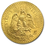 Mexico 1923 50 Pesos Gold Coin - MS-63 PCGS (Secure Plus!)