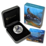 2012 1/2 oz Proof Silver Manta Ray - Sea Life II Series