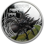 2012 1 oz Proof Silver Funnel Web Spider - Deadly and Dangerous