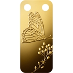 Butterfly - 1/5 oz Proof Gold Pamp Ingot Pendant