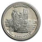 1 oz Johnson Matthey (Freedom of Assembly) Silver Round
