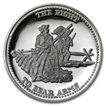 1 oz Johnson Matthey (Right to Bear Arms) Silver Round
