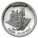 1 oz Johnson Matthey (Freedom from Slavery) Silver Round